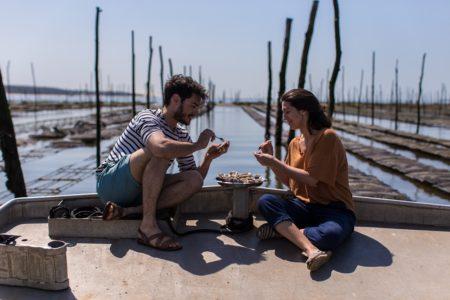 Dégustation dans un parc à huîtres du Bassin d'Arcachon