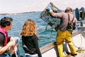 Rencontre avec un pêcheur sur le Bassin d'Arcachon