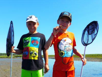 Pêche à pied en famille à Arès