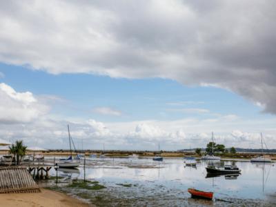 Vue sur le Bassin depuis le Cap Ferret à l'automne