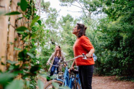 Balade à vélo entre filles au Bassin d'Arcachon