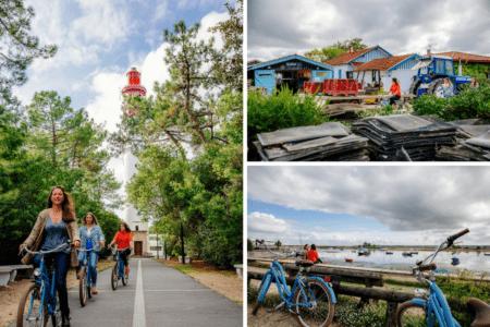 Balade à vélo au Cap Ferret entre filles à l'automne