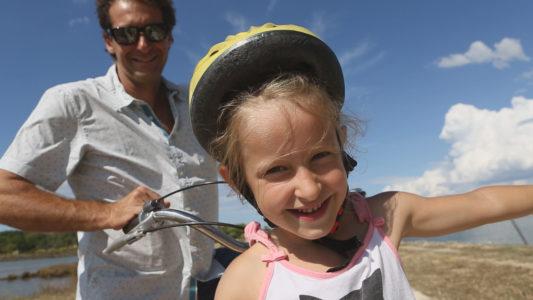 Vélo en famille sur le Bassin d'Arcachon
