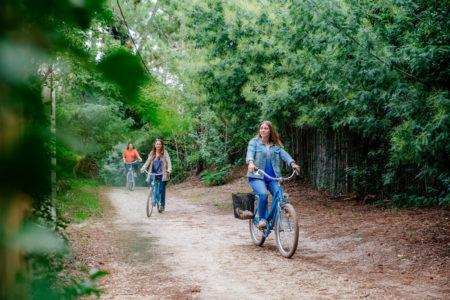 Balade à vélo dans la forêt au Cap Ferret - Photo à la Une