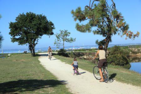 Balade à vélo au bord de l'eau à Lanton