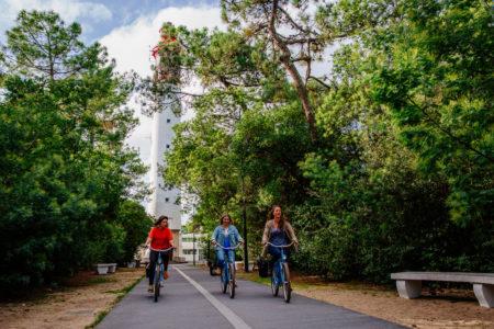 Vélo au phare du Cap Ferret