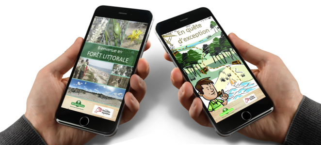 Application mobile sur la forêt au Bassin d'Arcachon
