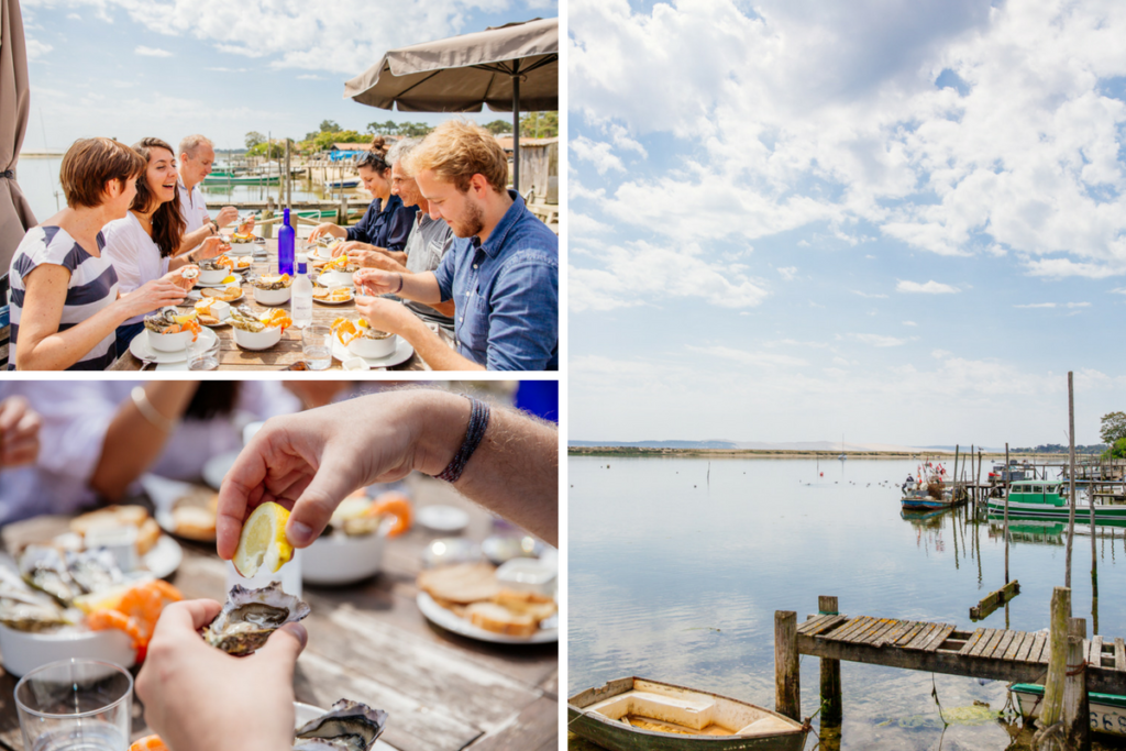 Dégustation d'huîtres avec Cap Gourmand au Cap Ferret