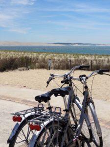 Faire du vélo à la pointe du Cap Ferret