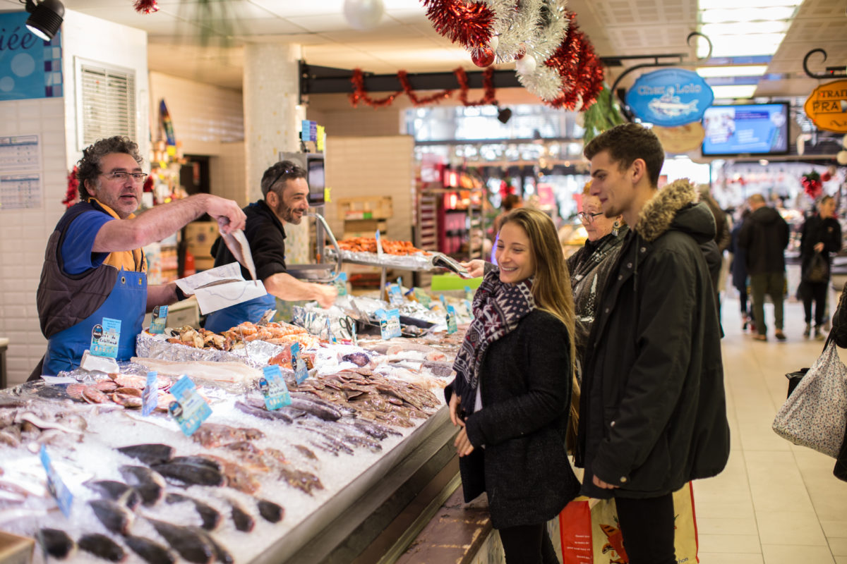 Le marché en hiver sur le Bassin d'Arcachon